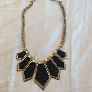 Aldo black and gold necklace